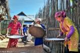 Bulang,China,Paddy,Turban,Winnowing,Yunnan