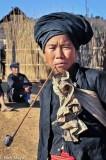 Bulang,China,Pipe,Smoking,Turban,Yunnan