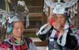 China,Earring,Guizhou,Headdress,Miao,Necklace