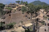Burma,Eng,Shan State,Thatch,Village