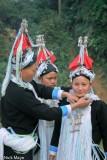 China,Hat,Necklace,Wedding,Yao,Yunnan