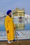 Attendant/Guard,India,Punjab,Temple,Turban