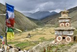 Barley,Dolpo,Nepal,Prayer Flag,Stupa
