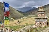 Barley,Dolpo,Nepal,Prayer Flag,Stupa