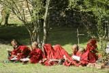 Book,China,Monk,Sichuan,Studying,Tibetan
