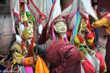 China,Festival,Mask,Monk,Sichuan,Sword,Tibetan