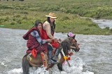 China,Festival,Hair,Hat,Horse,Sichuan,Tibetan