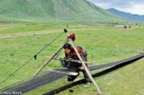 Weaving Tent Cloth From Yak Wool