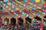 China,Festival,Monastery,Prayer Flag,Sichuan,Tibetan
