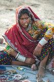 Anklet,Bangle,Bracelet,Gujarat,Head Scarf,India,Market,Nose Ring,Selling