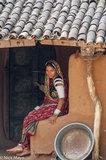 Anklet,Bangle,Doorway,Gujarat,Head Scarf,India,Rabari