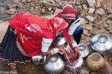 Anklet,Bangle,Bracelet,Fetching Water,Gujarat,Head Scarf,India,Rabari
