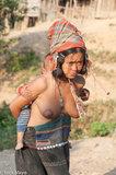 Hani,Headdress,Laos,Phongsali