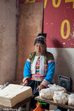China,Dai,Hat,Market,Tofu,Yunnan