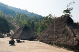 Burma,Dog,Eng,Shan State,Thatch,Village