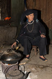 China,Cooking,Guangxi,Hearth,Necklace,Turban,Wok,Zhuang
