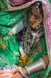 Bangle,Bracelet,Festival,Gujarat,Head Scarf,India,Necklace,Nose Ring