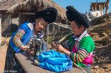 Burma,Miao,Sewing Machine,Shan State,Turban