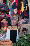 Lai Chau, Market, Miao, Necklace, Selling, Turban, Vietnam
