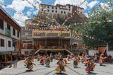Dancing, Festival, Himachal Pradesh, India, Monastery, Monk