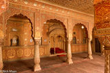 Fort, India, Rajasthan, Throne