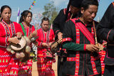 Burma, Cymbals, Drum, Drumming, Festival, Lahu, Piping, Shan State