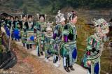 Apron,China,Column,Dong,Guizhou,Hair Piece,Headdress,Leggings,Necklace,Wedding