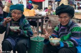 China,Earring,Eating,Market,Sichuan,Turban,Yi