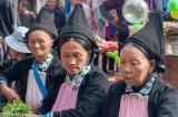 China,Hat,Market,Selling,Yao,Yunnan