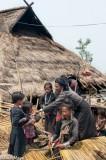 Bracelet,Burma,Earring,Eng,Hat,Preparing Thatch,Residence,Shan State,Thatch