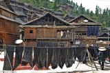 China,Cloth Drying,Guizhou,Village