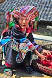 Apron,Chilli,China,Earring,Lisu,Turban,Yunnan