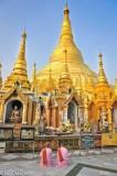 Burma,Nun,Rangoon Division,Shrine,Stupa