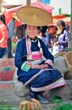 China,Dai,Hat,Market,Selling,Yunnan