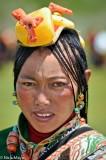 China,Earring,Festival,Hair,Hair Piece,Sichuan,Tibetan