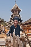 China,Dong,Drum Tower,Guizhou,Turban