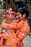 Backpiece,China,Guizhou,Hair,Hat,Miao,Wedding