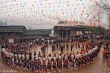 Mini Skirted Miao Festival In Square