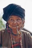 Akhu,Burma,Earring,Pipe,Shan State,Smoking,Turban