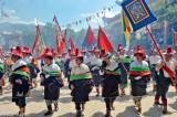 China,Festival,Hat,Procession,Qinghai,Standard,Tibetan