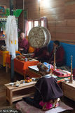 Arunachal Pradesh, Drum, Horn, India, Memba, Monk, Offering, Religious Ritual