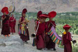 Drum, Drumming, Festival, Horn, India, Jammu & Kashmir, Monk, Procession