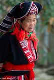 Red Dao Woman At Year End Market