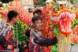 Dragon In The Temple Procession