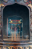Burning Joss Sticks At Xing-ji Temple