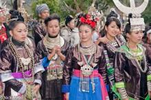 Apron,Breastpiece,China,Dong,Festival,Guizhou,Hair,Hair Piece,Headdress,Miao,Necklace