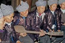China,Dong,Festival,Guizhou,Singing,Stringed Instrument,Turban