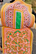 China,Cloth Backpiece,Guizhou,Miao