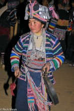 Breastpiece,China,Earring,Festival,Gong,Hani,Headdress,Yunnan