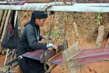 Burma,Eng,Frame Loom,Shan State,Weaving